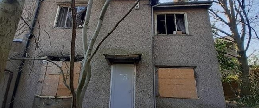 Fire-ravaged home sells for £115,000, almost double its guide price, at auction
